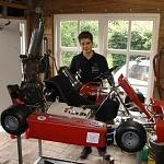 VWO-scholier Onno Wijnberg uit Gameren test straalmotor op Zandvoort